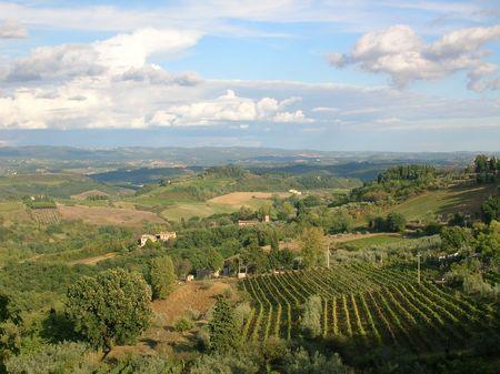 The Tuscan landscape. Banco de Imagens - 666731