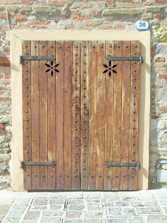 Italian doorway. Banco de Imagens