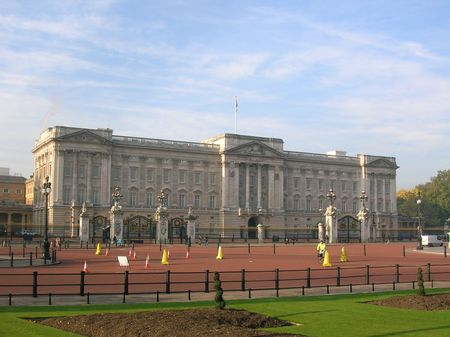Buckingham Palace, London. Zdjęcie Seryjne