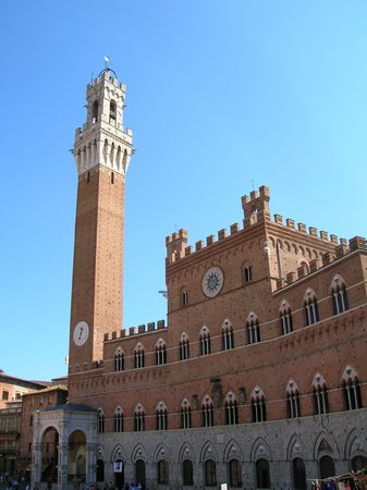Piazza del Campo, Siena Italië.