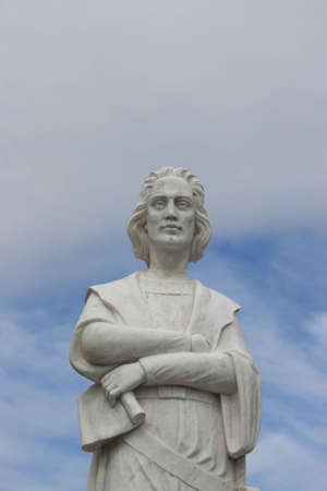 christopher: A statue of Christopher Columbus.