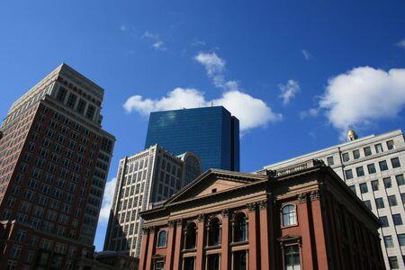 john hancock: Buildings in Bostons Back Bay inlcuding the John Hancock Tower.