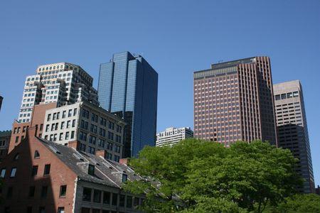 Buildings near Boston's Faneuil Hall Stock Photo - 962283