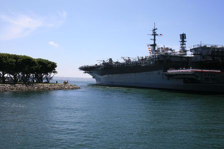 The U.S.S. Midway in San Diego Bay.