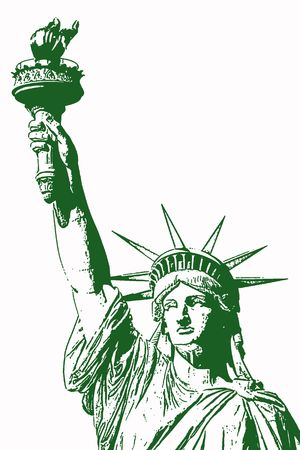 Statue of liberty holding her torch a loft 스톡 콘텐츠 - 1296793