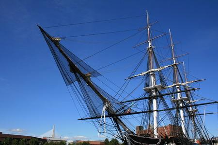 boston: The USS Constitution (Zakim Bunker Hill Bridge in the background).
