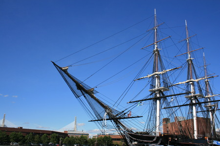 The USS Constitution in Boston, Massachusetts.