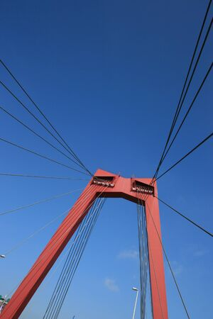 the netherlands: The Willemsbridge in Rotterdam, The Netherlands. Stock Photo