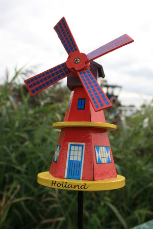dutch: A toy windmill in Holland.