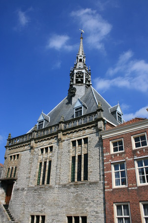 the netherlands: Building in Schoonhoven, The Netherlands.