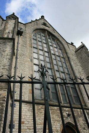 the netherlands: A medieval church in Gouda, The Netherlands.