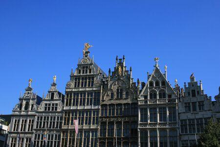 A view of buildings in Antwerp, Belgium.