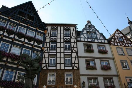german architecture in the village of cochem stock photo picture