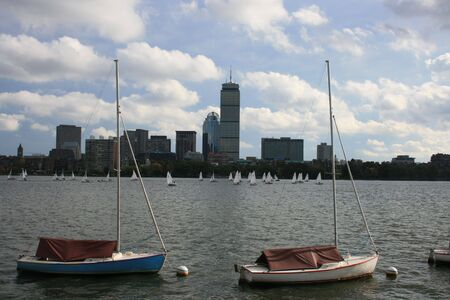 Back Bay skyline as seen from the Cambridge side of the Charles River. photo