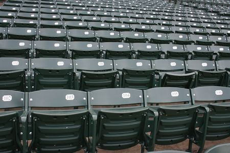 Empty seats at Wrigley Field, Chicago.