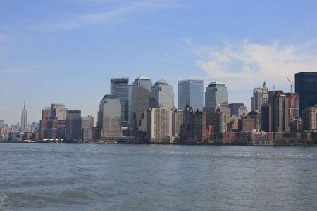 Manhattan skyine along the Hudson River
