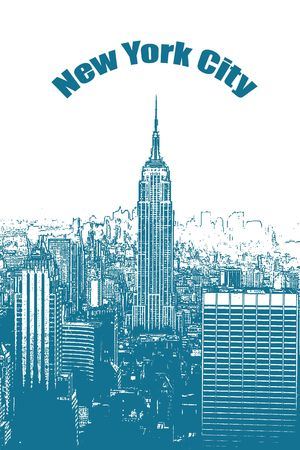empire state building: Illustration of the Empire State Building