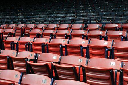 Seats at Boston's Fenway Park. Zdjęcie Seryjne