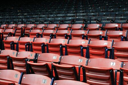 seating: Seats at Bostons Fenway Park.