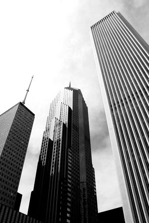 aon: Chicago skyscrapers including the Aon Center. Stock Photo