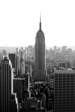 new york state: Manhattan skyline and the Empire State Building.