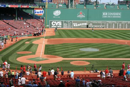 Boston, Massachusetts, USA - August 7th, 2009 - Before a Red Sox game at Fenway Park.