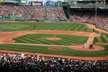 Boston, Massachusetts, USA - August 7th, 2009 - A Red Sox game at Fenway Park.