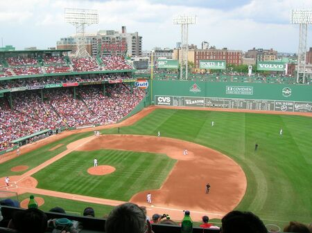 Boston, Massachusetts, USA - April 20th, 2009 - A Red Sox game at Fenway Park.