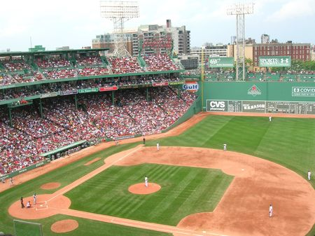 Boston, Massachusetts, USA - September 4th, 2009 - A Red Sox game at Fenway Park.