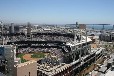 baseball crowd: San Diego, California, USA - July, 22nd, 2009 - A game at Petco Park. Editorial