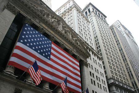 new york stock exchange: New York City, USA - 15 febbraio 2009 - di fuori della borsa di New York. Editoriali
