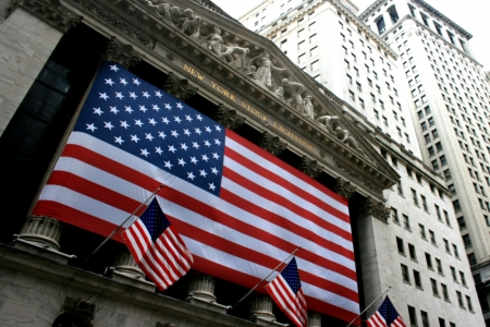 new york stock exchange: New York City, USA - January 24th, 2010 - The New York Stock Exchange in Lower Manhattan.