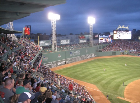 Boston Massachusetts, USA - June 18th, 2011 - A Major League Baseball game at Fenway Park.                            Stock Photo - 9743912