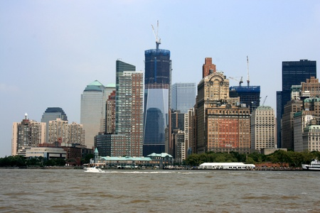 Lower Manhattan skyline at Battery Park. Stock Photo - 10483824