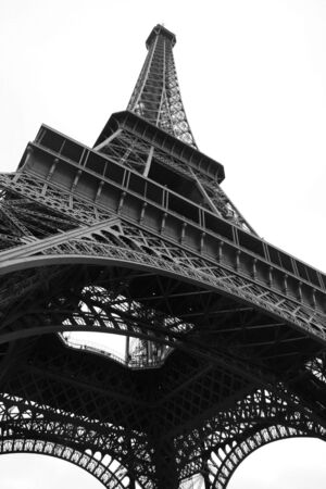 Looking up at the Eiffel Tower, Paris.