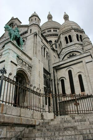 The Basilica of the Sacred Heart at Montmartre, Paris. photo