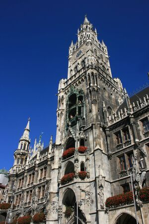 View of the New Town Hall of Munich, Germany.