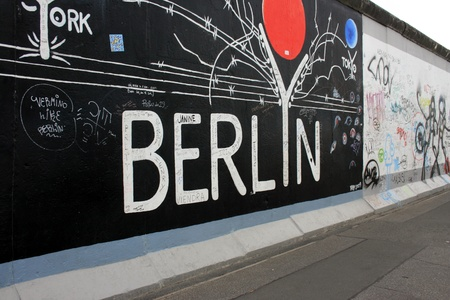 Berlin, Germany, October 8th, 2011 - Graffiti on the Berlin Wall.