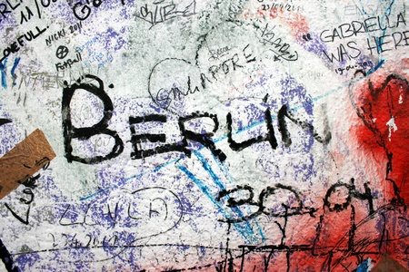 Berlin, Germany, October 8th, 2011 - Graffiti on the Berlin Wall.