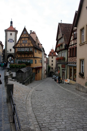 A street in Rothenburg ob der Tauber, Germany  Stock Photo