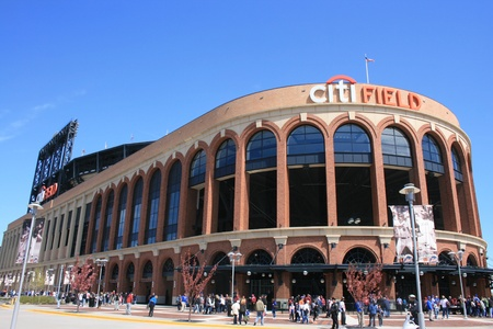 New York City, USA - April 8, 2012 - Crowd gathering before a Major League Baseball game at Citi Field. Stock Photo - 13096196