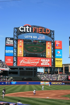 New York City, USA - April 8, 2012 - Major League Baseball game a Citi Field. Stock Photo - 13073366