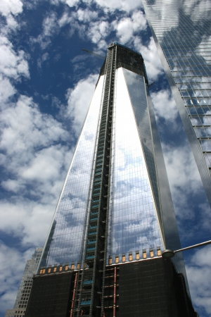 New York City, USA - May 13, 2012 - Construction of One World Trade Center surpasses 100 stories. Stock Photo - 13669779