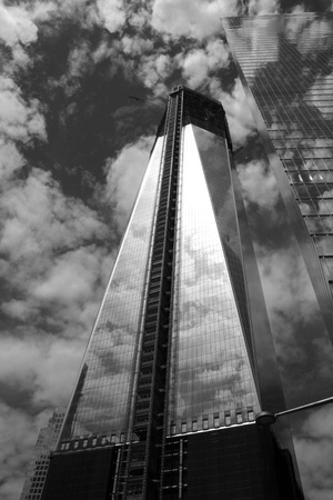 New York City, USA - May 13, 2012 - Construction of One World Trade Center surpasses 100 stories.