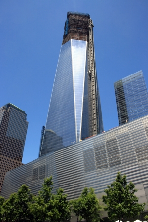 New York City, USA - May 19, 2012 - Construction on One World Trade Center at Ground Zero.