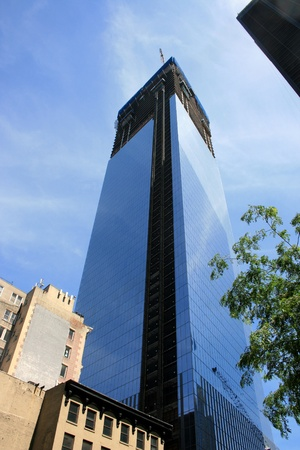 New York City, USA - June 24, 2012 - Construction on World Trade Center Building Four at Ground Zero.