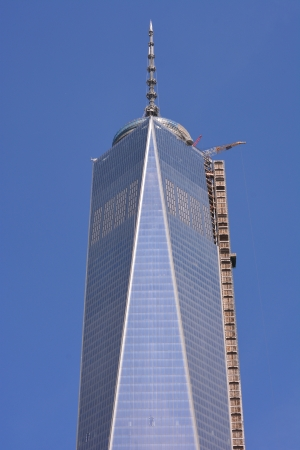New York City, USA - August 25, 2013 - World Trade Center Tower One