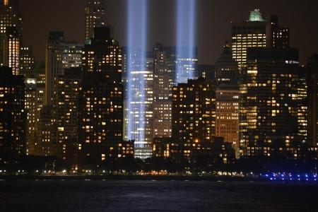 hudson: Tribute in Light in Lower Manhattan along the Hudson River