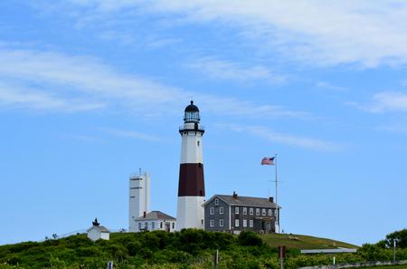 montauk: Montauk Point LIghthouse on Long Island, New York  Stock Photo