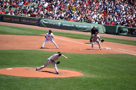Boston Massachusetts, USA - July 6, 2014 - Major League Baseball game at Fenway Park